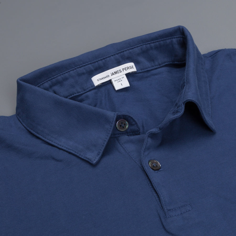 James Perse Revised Standard Polo Air Force Blue