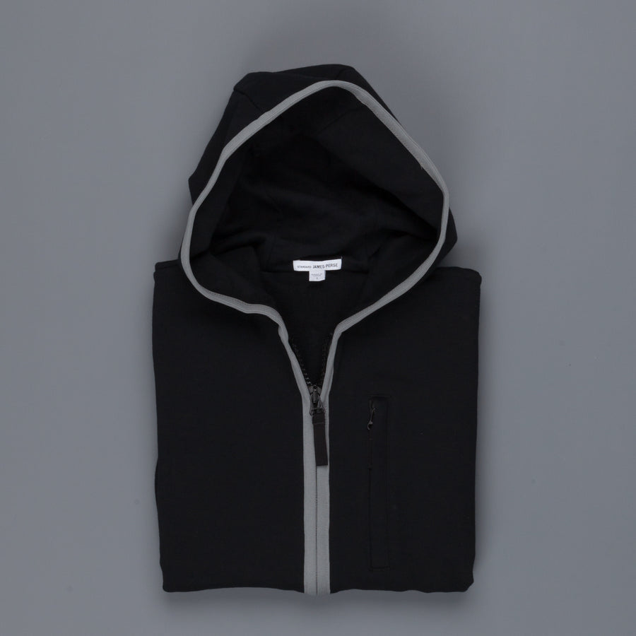 James Perse French Terry Full zip hoody Black Grey