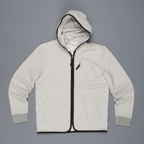 James Perse French Terry Full zip hoody Heather Grey Black