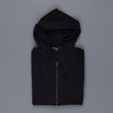 James Perse Baby cashmere hooded track jacket black