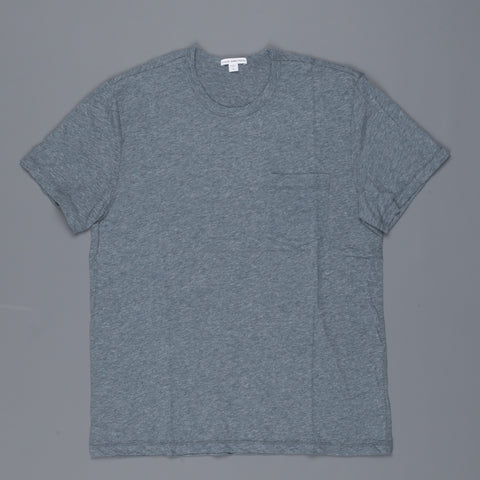 James Perse Pocket Tee s/s Dusty blue melange