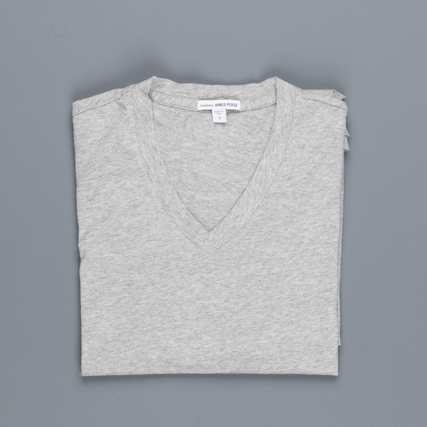 James Perse V-neck tee Heather Grey