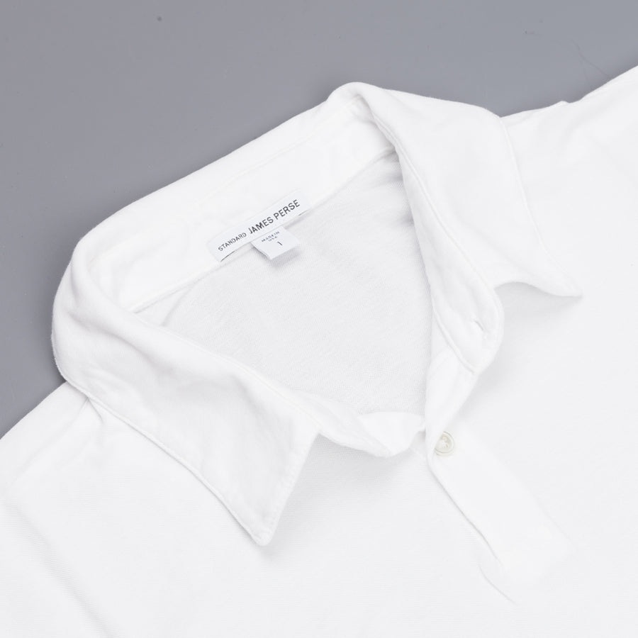 James Perse Revised standard polo White