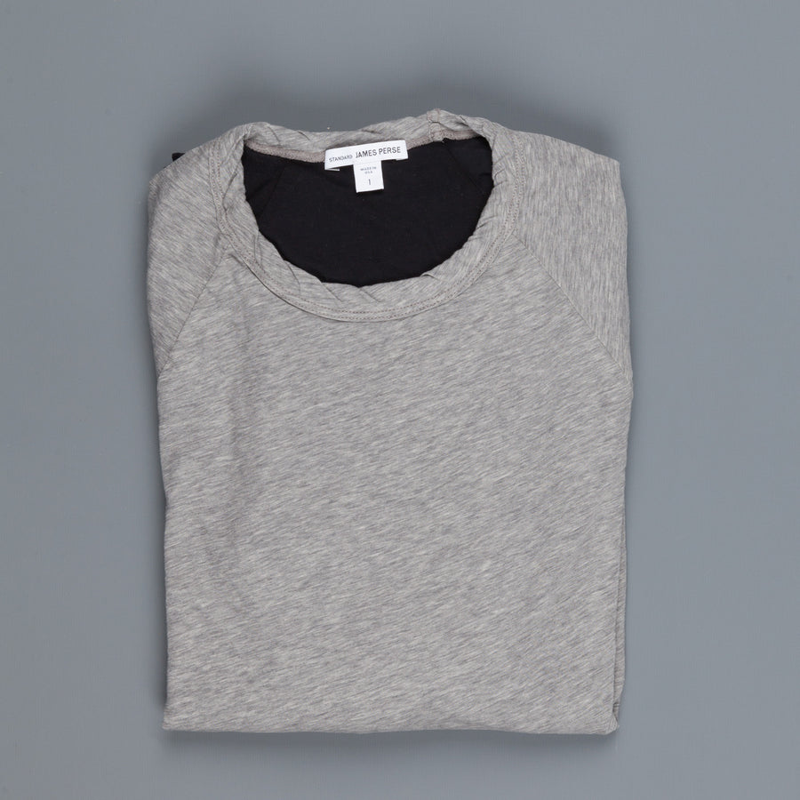 James Perse Double Faced Longsleeve T-shirt in Grey - Black