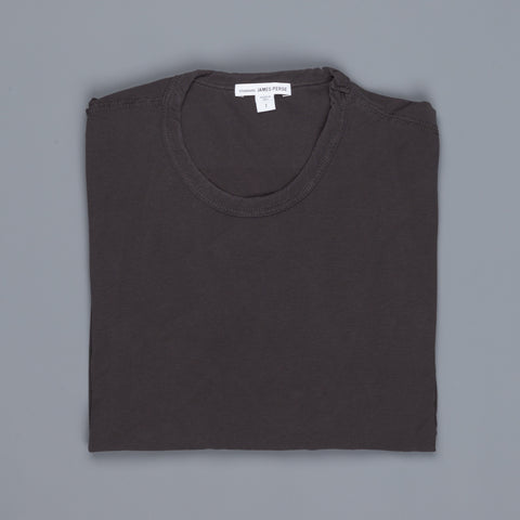James Perse Straddle Stitch short sleeve crew Carbon