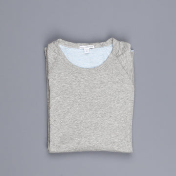 James Perse doubled melange jersey crew neck heather grey sky blue
