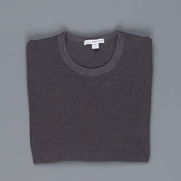 James Perse Micro striped jersey crew neck pollock pigment