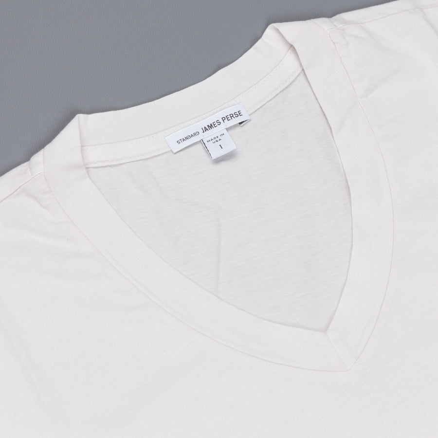 James Perse V neck Tee Talc Pigment