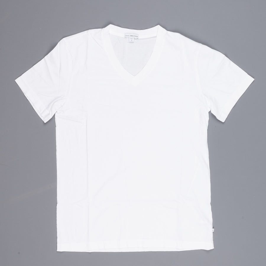 James Perse V neck tee white