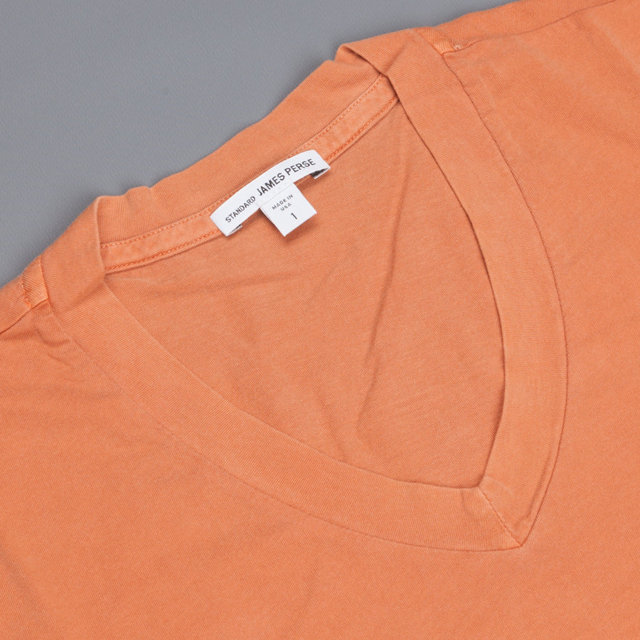 James Perse SS V Neck tee shirt Orange