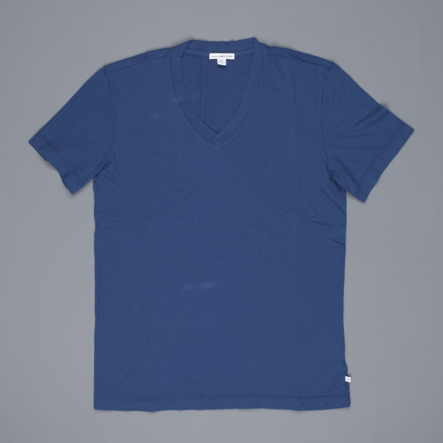 James Perse SS V Neck tee shirt Air force Blue