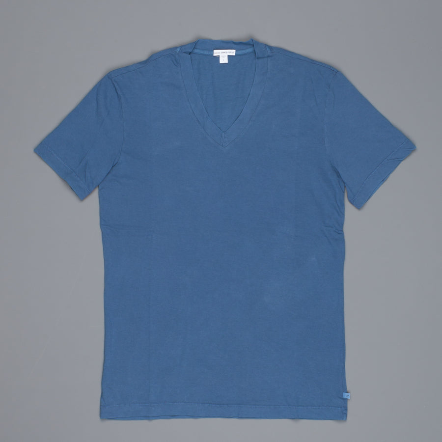 James Perse V neck tee Lake Pigment