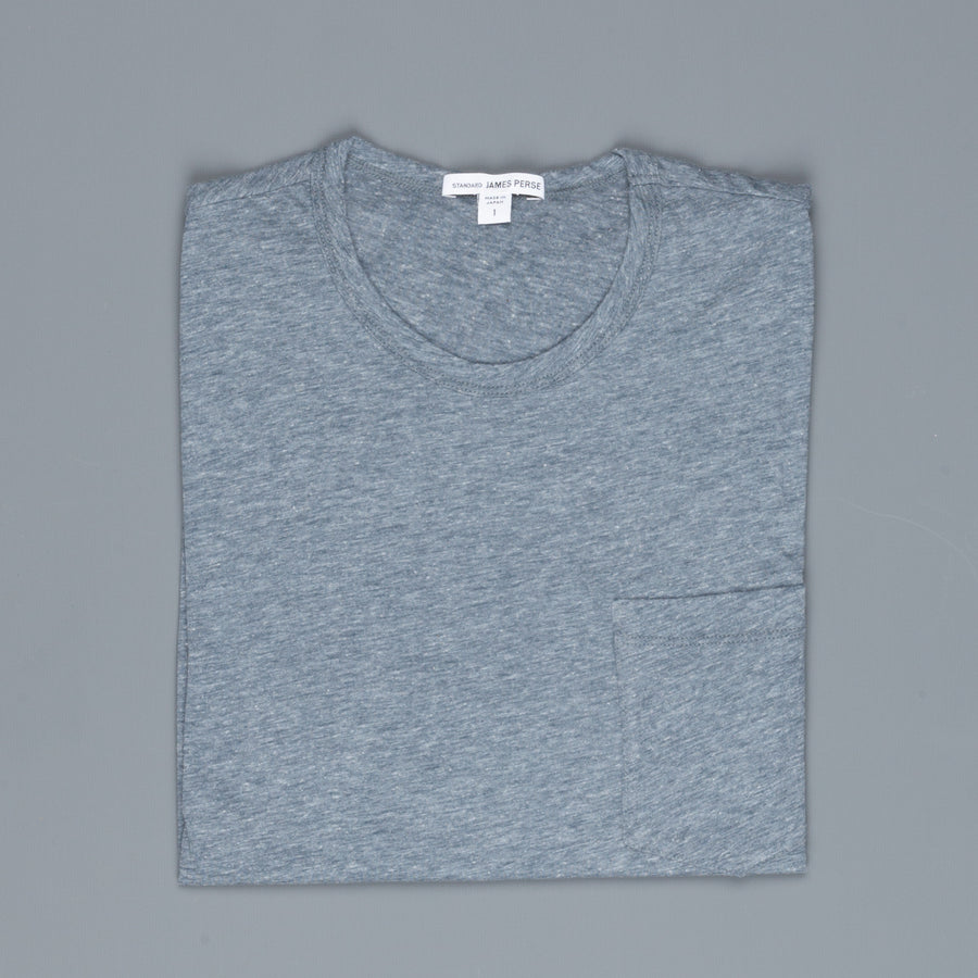 James Perse Japan Melange jersey tee s/s Dusty Blue Melange