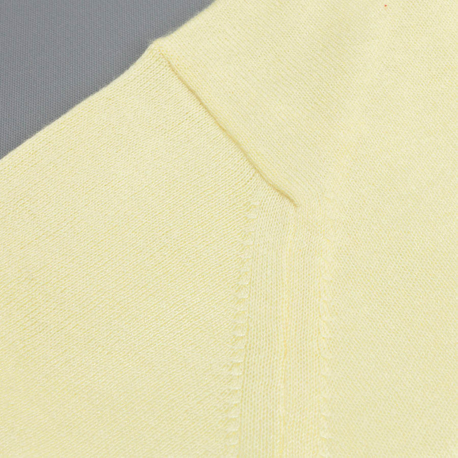 John Smedley Rhodes shortsleeve polo shirt Madin Yellow