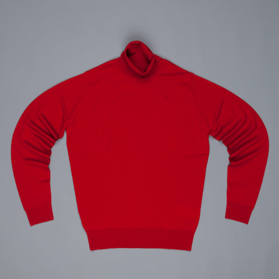 John Smedley Orta pullover turtle neck Crimson Forest