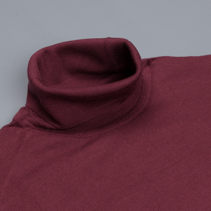 John Smedley Richards pullover turtle neck Maroon Blaze