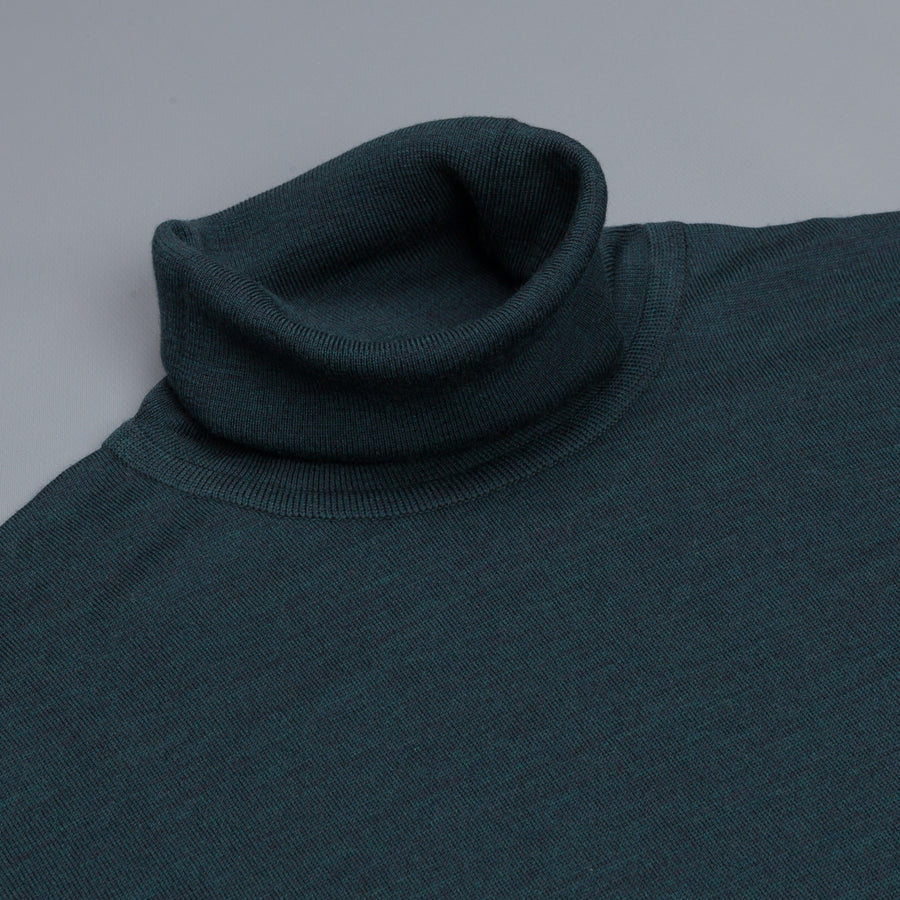 John Smedley Richards pullover turtle neck Racing Green