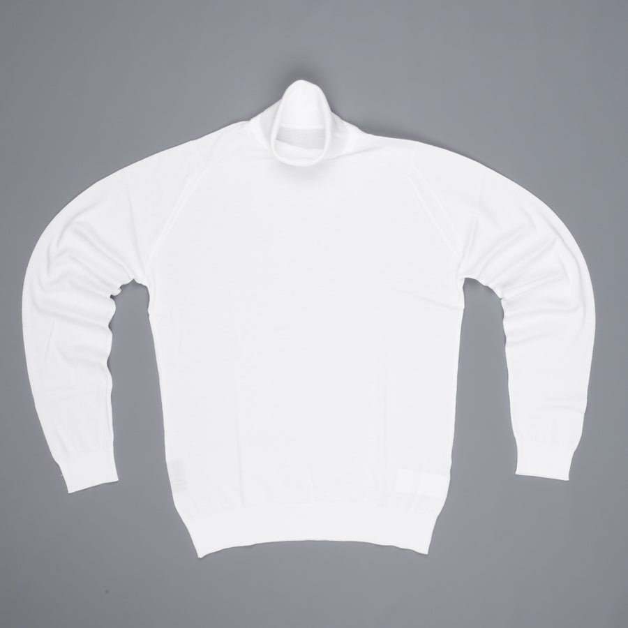 John Smedley Hawley pullover roll neck White