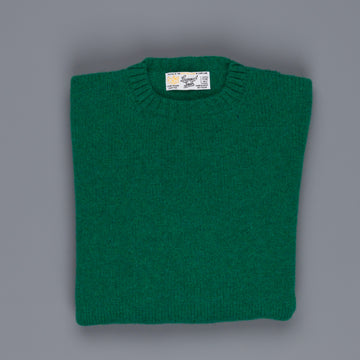 Laurence J. Smith  Super soft Seamless Crew Neck Pullover Vintage Green