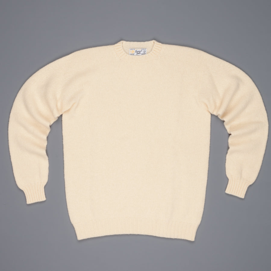 Laurence J. Smith  Super soft Seamless Crew Neck Pullover Cream