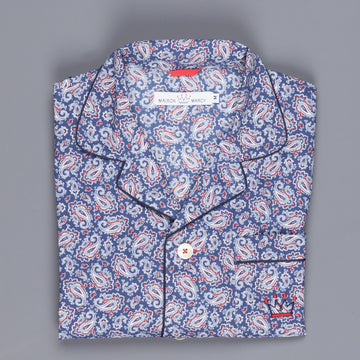 Maison marcy pj's navy red paisley regular fit
