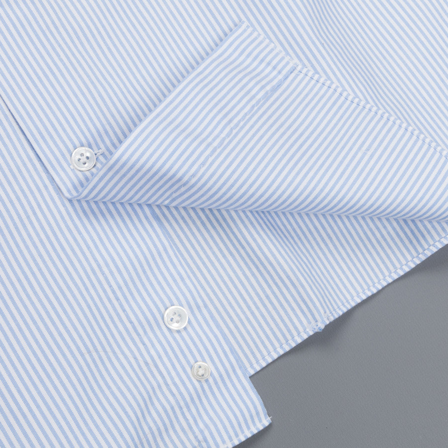 Mazzarelli fine oxford stripe blue