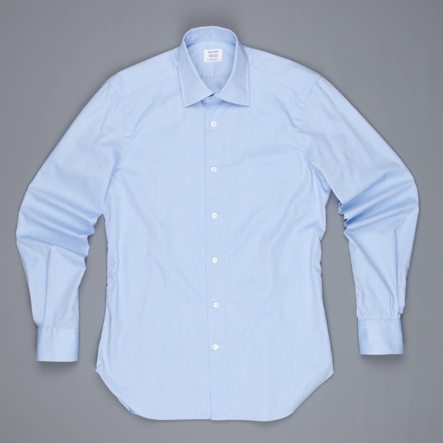 Mazzarelli fine oxford light blue