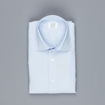 Mazzarelli jaquard shirt blue