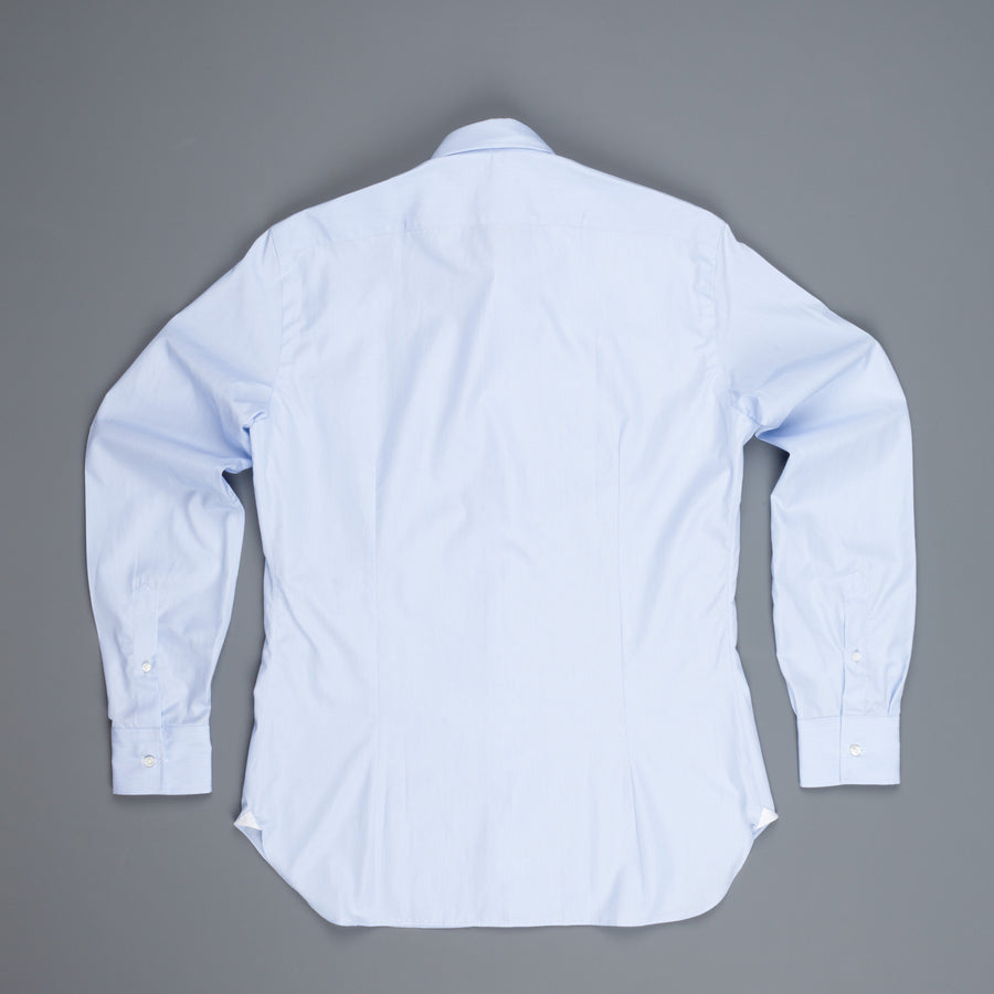 Frans Boone x Mazzarelli blue hairline shirt