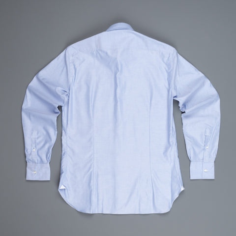 Frans Boone x Mazzarelli blue oxford Shirt