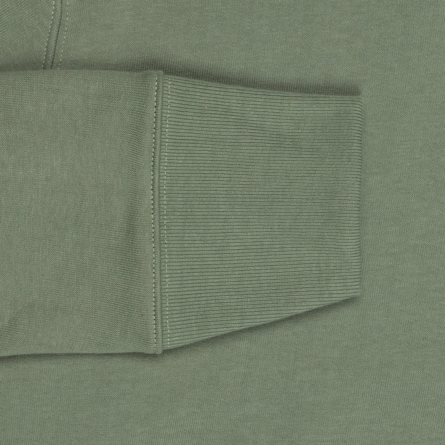 Merz b. Schwanen 382 Hoody 3-Thread in Light Army