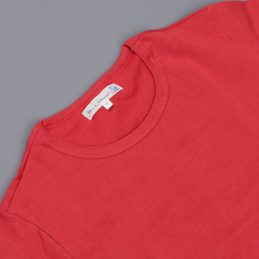 Merz B. Schwanen 215 t shirt 1/4 open sleeve red