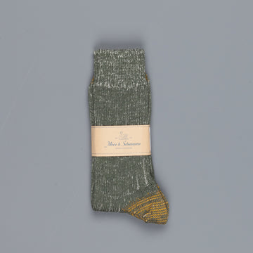 Merz B Schwanen W72 New Wool Army Melange socks