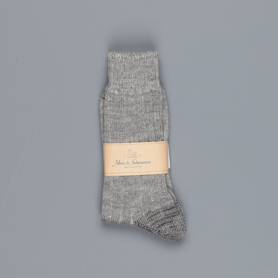 Merz B Schwanen W72 New Wool Grey Nature Socks