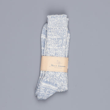 Merz B Schwanen 271 socks 2 thread cotton Blue melange