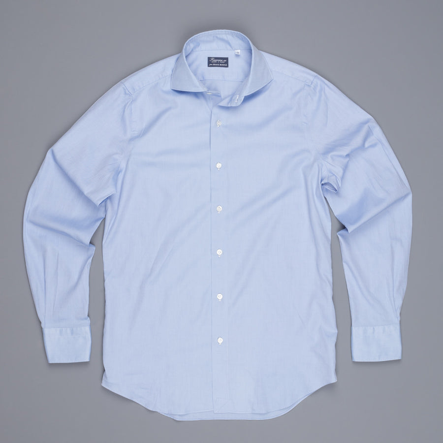 Finamore Milano Eduardo dress fine oxford shirt blue