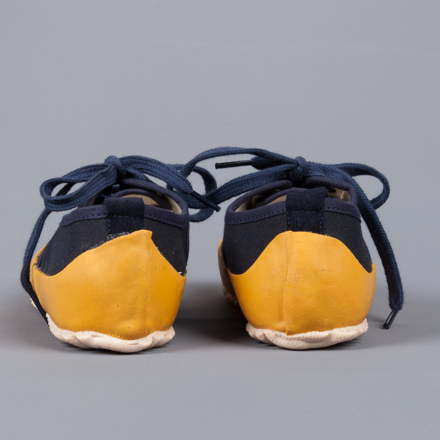 Northsea Clothing deck shoe laced Navy Yellow