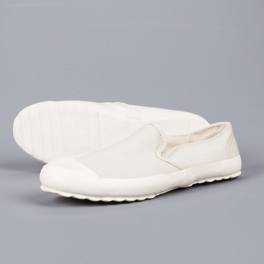 Northsea Clothing MK I slip on deck shoes Ecru White