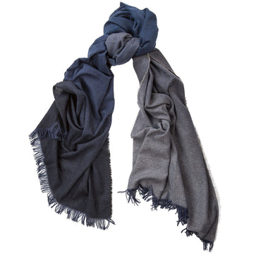 Alex Begg 100% cashmere Nuance Ombre Scarf Cosmos