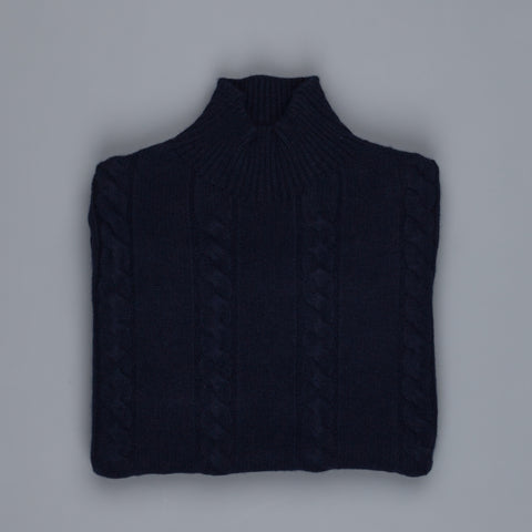 Orgueil Or-4092 Wool Cashmere turtle neck sweater Navy