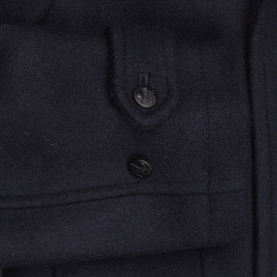 Tailor Orgueil Ulster jacket navy wool