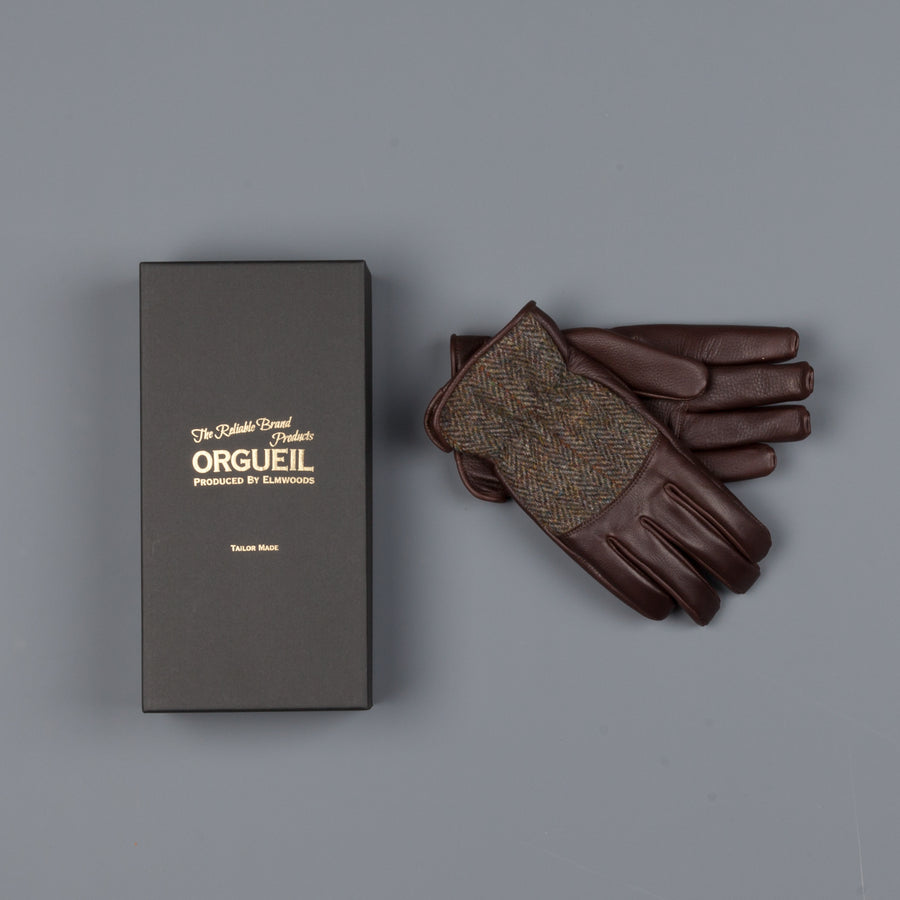 Orgueil leather gloves OR-7108 Brown