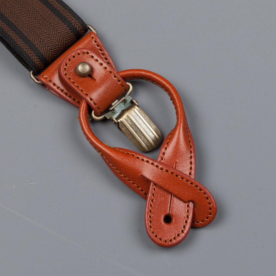Orgueil Or-7067 suspenders brown
