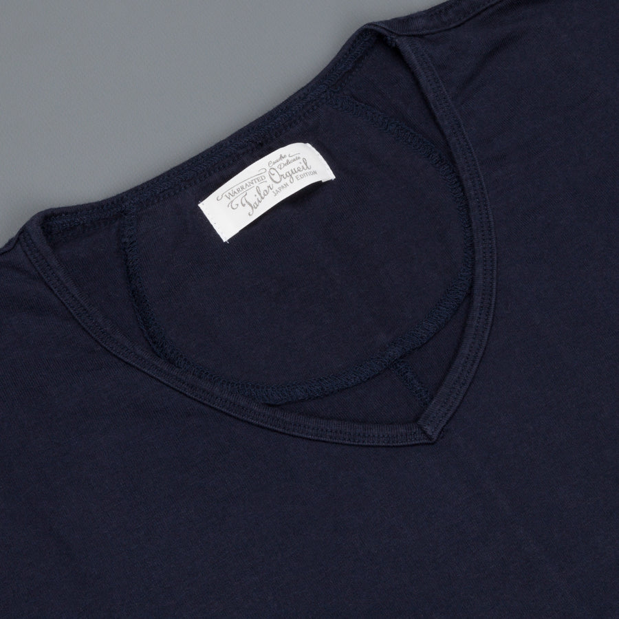 Orgueil OR-9016 Suvin V neck tee Navy