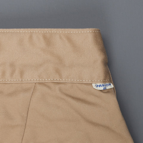 Orslow 5560 Pleated Billy Jean trousers khaki