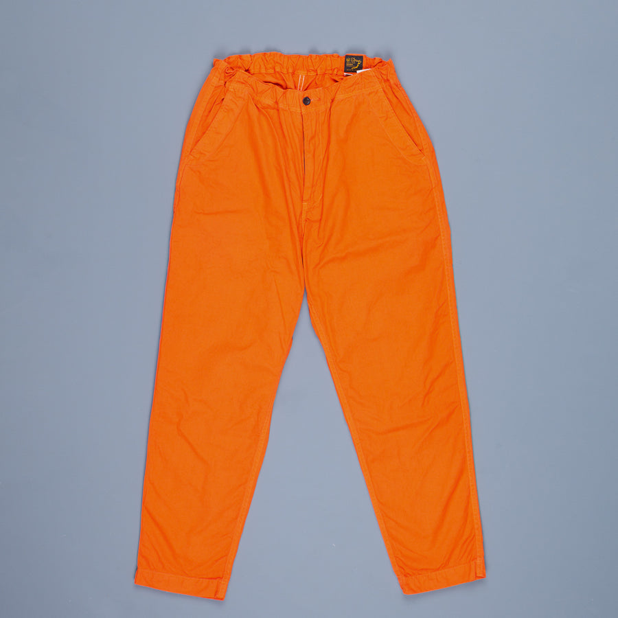 Orslow FB Exclusive Heavy Poplin Easy Pants Orange