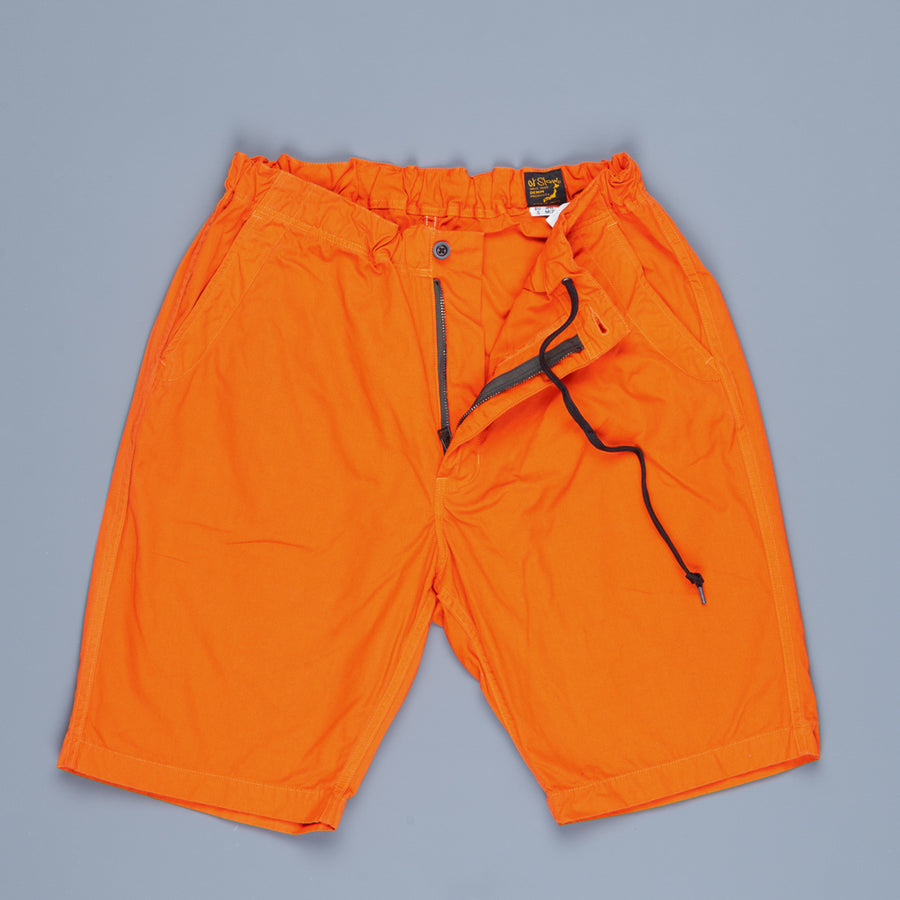 Orslow FB Exclusive Heavy Poplin Easy Shorts Orange