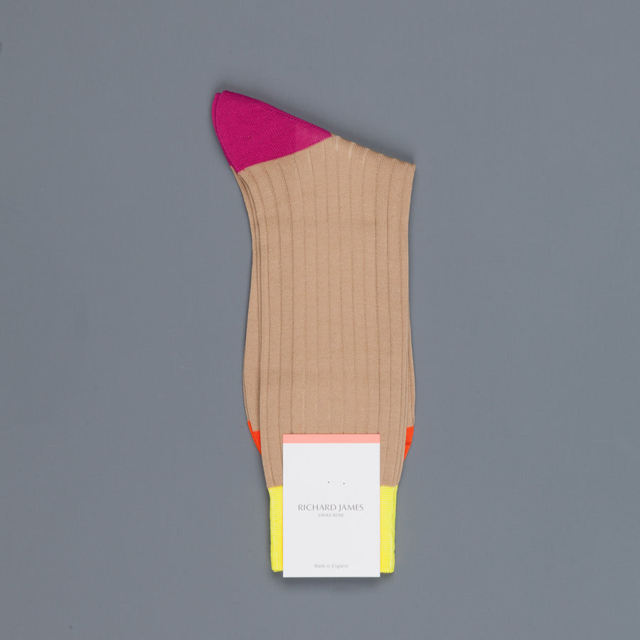 Richard James Trinidad socks in Light Khaki