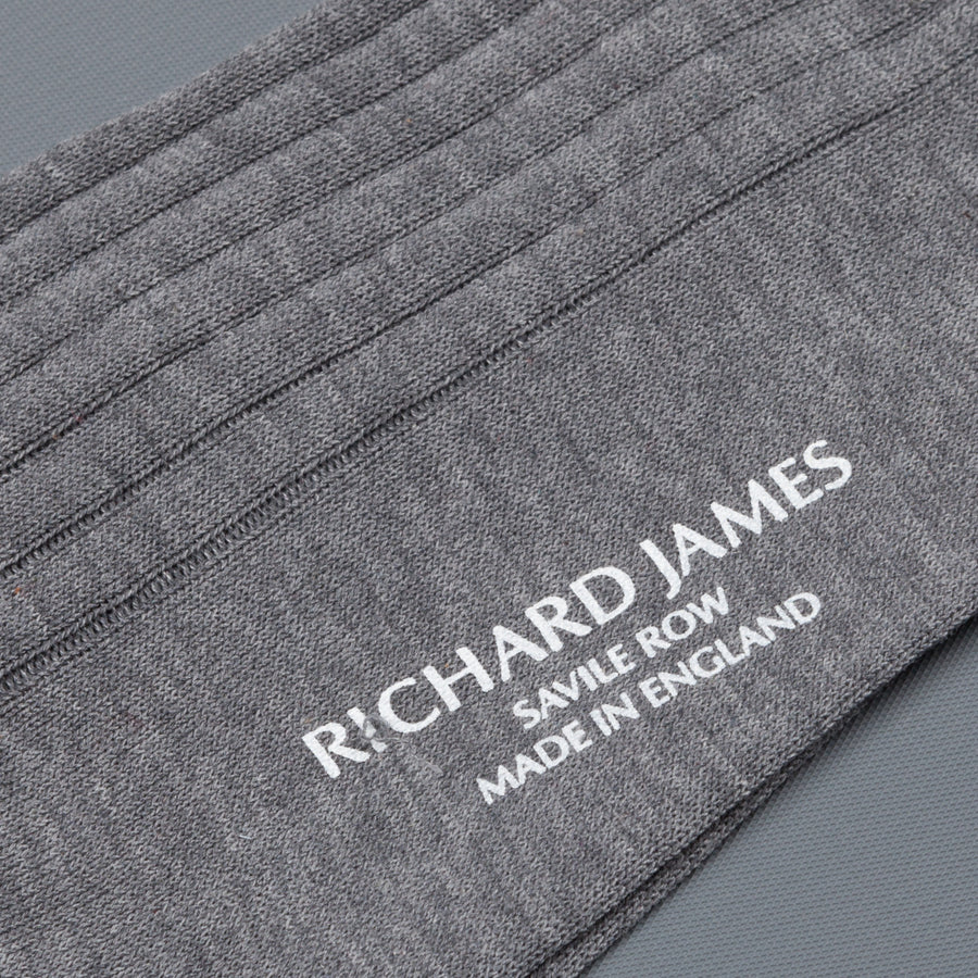 Richard James Trinidad socks in Mid Grey