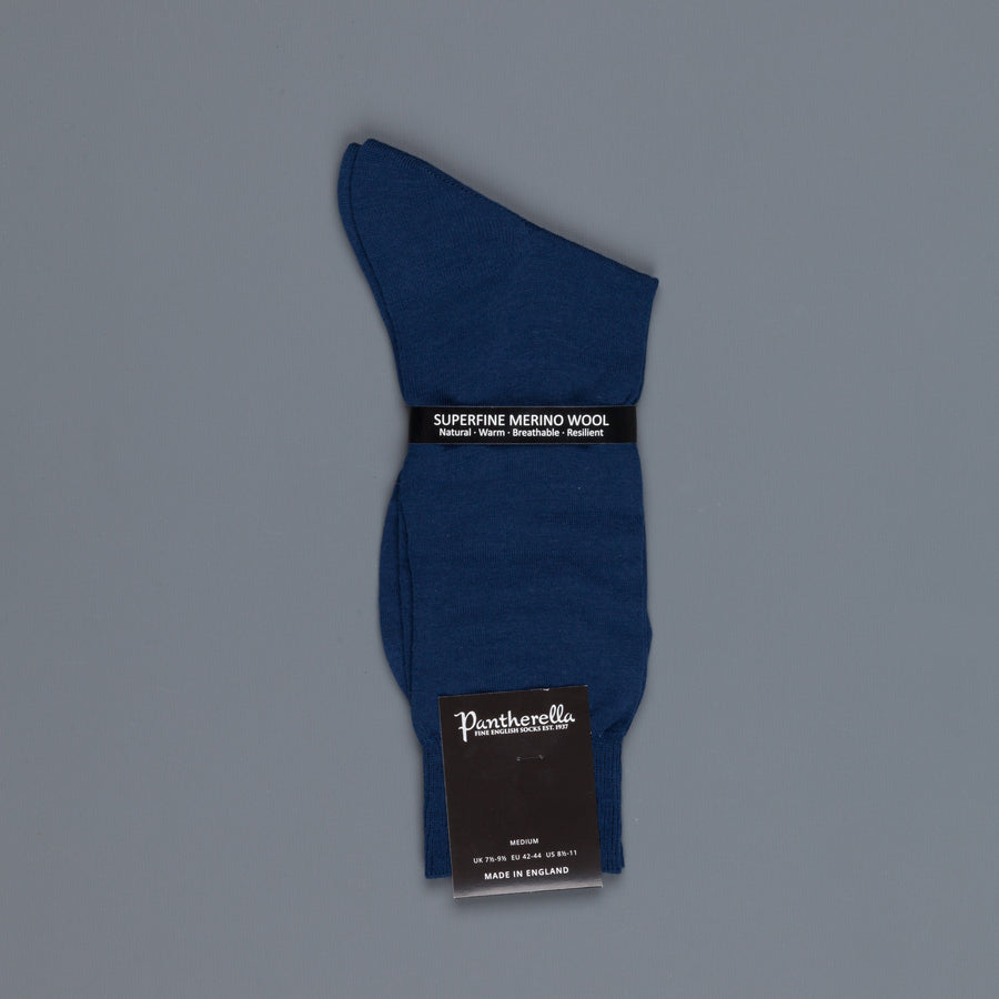 Pantherella Camden Dark Blue Merino Wool